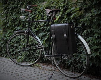 Bicycle Leather Pannier, Bicycle Leather Bag, Bike Messenger Bag