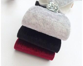 velvet bows - hair clips - hair bows - hair accessories