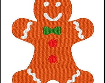 Gingerbread Man Cookie Embroidery Pattern Design
