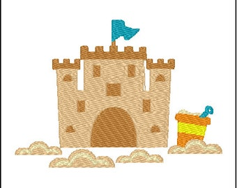 Sand Castle Embroidery Design