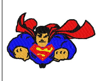 Super Man Embroidery Design