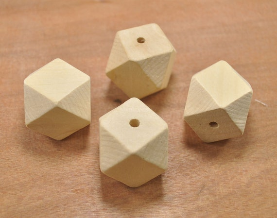 Wholesale 50pc large geometric figure wooden beadsgeometric for Wholesale wood craft cutouts