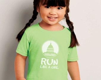 Run Like  a Girl Infant/Toddler/Kids T-shirt