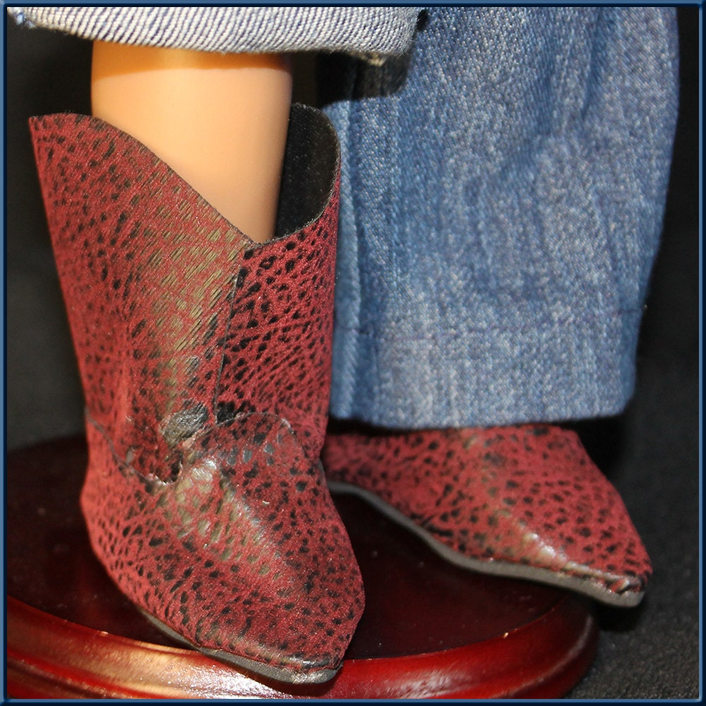 cowboy boots doll accessories for american or boy style