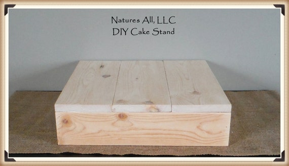 "16"" DIY Rustic Wedding Cake Stand/Country Wedding Cake Stand/Unfinished Natural Wood/Shipping Included/Item# UCS-1000"