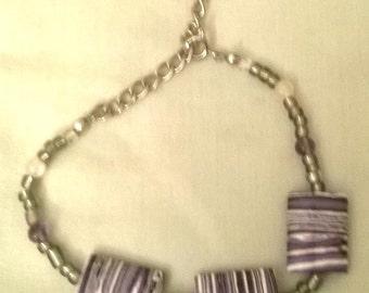 purple stripe bracelet