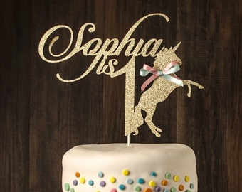 Any Name and Age, Unicorn Cake Topper, personalize cake topper, unicorn, horse cake topper, first birthday
