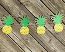 Pineapple Garland | Pineapple Banner | Pineapple Decor | Pineapple Decoration | Hawaiian Decor | Luau Decor | Luau Party | Fruit Garland