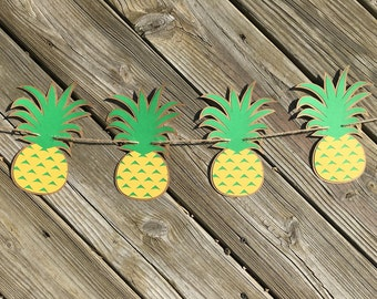 Pineapple Garland | Pineapple Banner | Pineapple Decor | Pineapple Decoration | Hawaiian Decor | Luau Decor | Luau Party | Fruit Garland