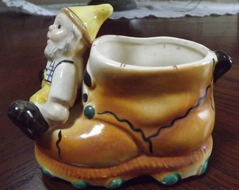 Vintage 1960's Gnome  Norweigan Swedish Boot  Planter