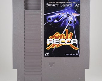 Recca Summer Carnival 92 NES Cart Shooter shmup Nintendo