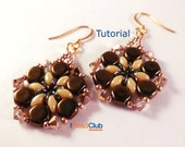 SuperDuo Earring Patterns - Honeycomb Bead Pattern - Earring Tutorial - Beading Patterns and Tutorial - Beadweaving Tutorial - Asta Earrings