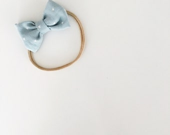Denim hearts headband