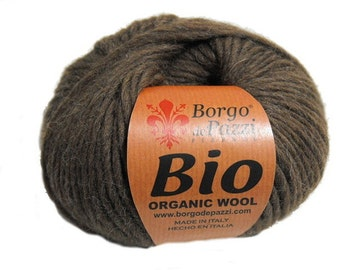 Organic yarn - 05 - Dark Brown - 50g - Aran - Knitting Yarn
