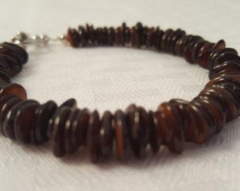 Brown Shell Bracelet - Women's Brown Bracelet - Men's Brown Bracelet - Brown Bracelet -