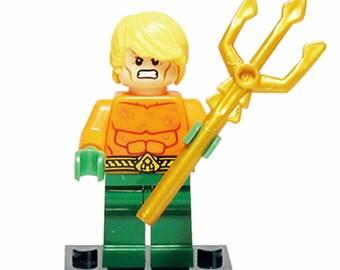 AQUAMAN Custom Minifigure 100% Lego Compatible! DC Comics Justice League Character