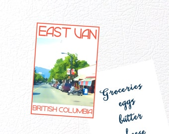 East Vancouver B.C. Fridge Magnet - Love This Place Cityscape - East Van Commercial Drive Canada - Gift Art The Jitterbugshop