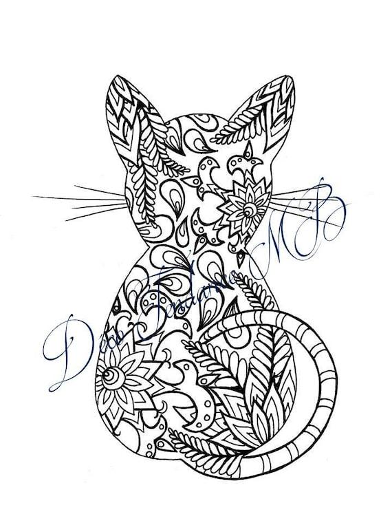 Mandala de chat imprimer dessin pour enfant activit de for Mandala da colorare con animali