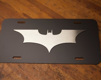 Batman The Dark Knight License Plate - 3D - Steel and Stainless Steel
