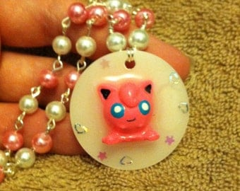 Cute jiggly puff cosplay pokemon necklace