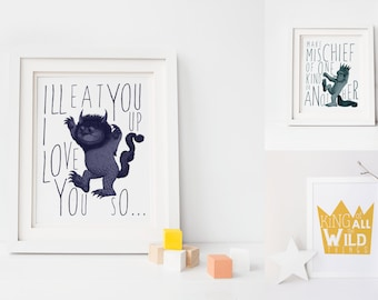 Where the Wild Things Are Nursery Printable. Where the Wild Things Are. Ill Eat You Up I Love You So.