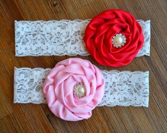 Lovely Headbands Pink&Red (Set of 2)
