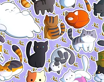Neko Atsume Cat Collector Print