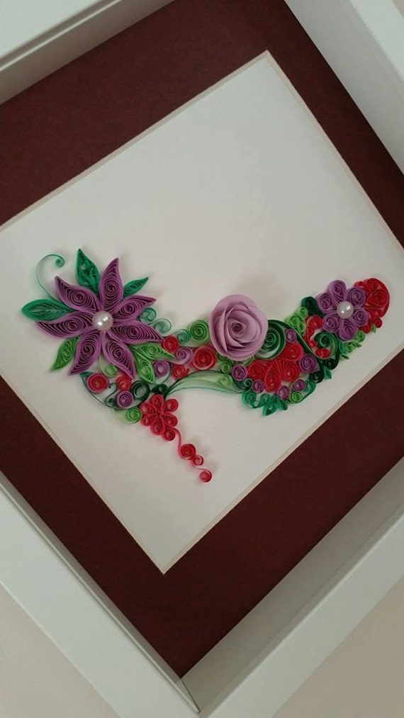 Quilling Frame Quilled Paper Art Quilled Women by AuroraSanat