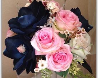 Winter magnolia bridal bouquet