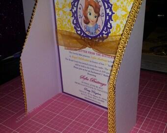 Sophia The First Birthday Invitations, Princess Party Invitation, Sophia the First Invitation | Princess Birthday Invite | Sophia Invitation