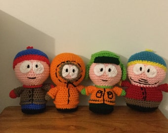 Made to Order: Crochet Amigurumi Winter Buddy Boys Set--FREE shipping