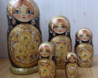 Russian matryoshka beauty handmade