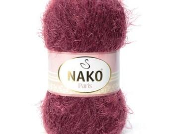 PARİS Nako Acryclic-Polyamide Knit Crochet Yarn - Very Soft Yarn - Baby Yarn - Winter Yarn - Blanket Yarn - Vest Yarn - Shawl Scarf Yarn