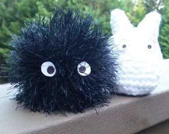 Crochet Amigurumi Totoro Soot Sprite susuwatari SET