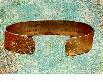 """Proverbs 31:29 Many daughters have done nobly, But you excel.... 