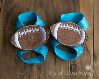 Barefoot Baby Sandals with  Football Patch, Football Patches for Interchangeable Baby  Barefoot Sandals, Light Blue Elastic Baby Shoes, Gift