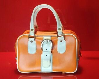 Mod Orange Sherbert Luggage Bag Style Handbag