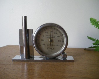 Old thermometer ART DECO modernist Vivex lyon / 1940