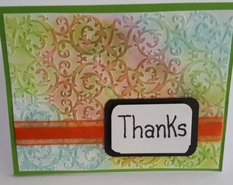 Handmade Thank You Card, blank note card, blank thank you card