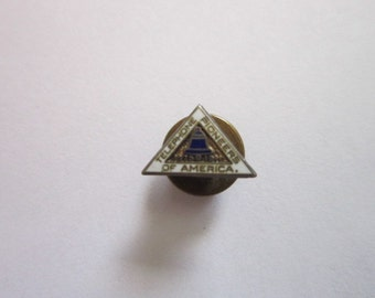 Antique 1911 Sterling Silver and Enameled Telephone Pioneers of America Pinback