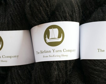 Artisanal pure Hebridean knitting yarn - peaty brown