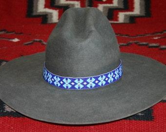 Seed bead hatband hand loomed