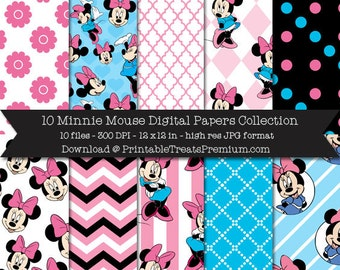 Minnie Mouse Digital Papers