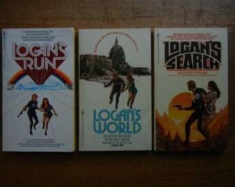 Logan's Run ~ Logan's World ~ Logan's Search by William F. Nolan ~ 1970's book set