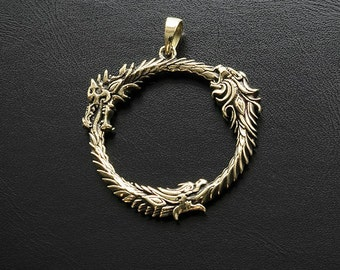 Pendant inspired by The Elder Scrolls: Online game made from bronze