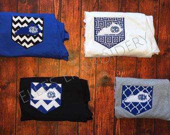 Kentucky pocket tee/ KY pocket tee/ UK monogrammed tshirt/ KY monogrammed shirt
