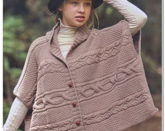 Poncho with buttons and armholes
