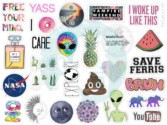 Slobbery image for stickers printable