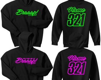 Braaap! Hoodie Sweat Shirt His & Hers JUST RIDE Motocross Moto Sled Snowmobile