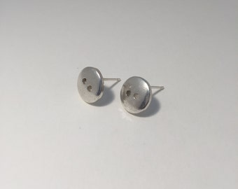 Small Button Stud Earrings